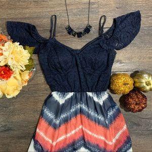 TRIXXI Navy blue Maxi Dress